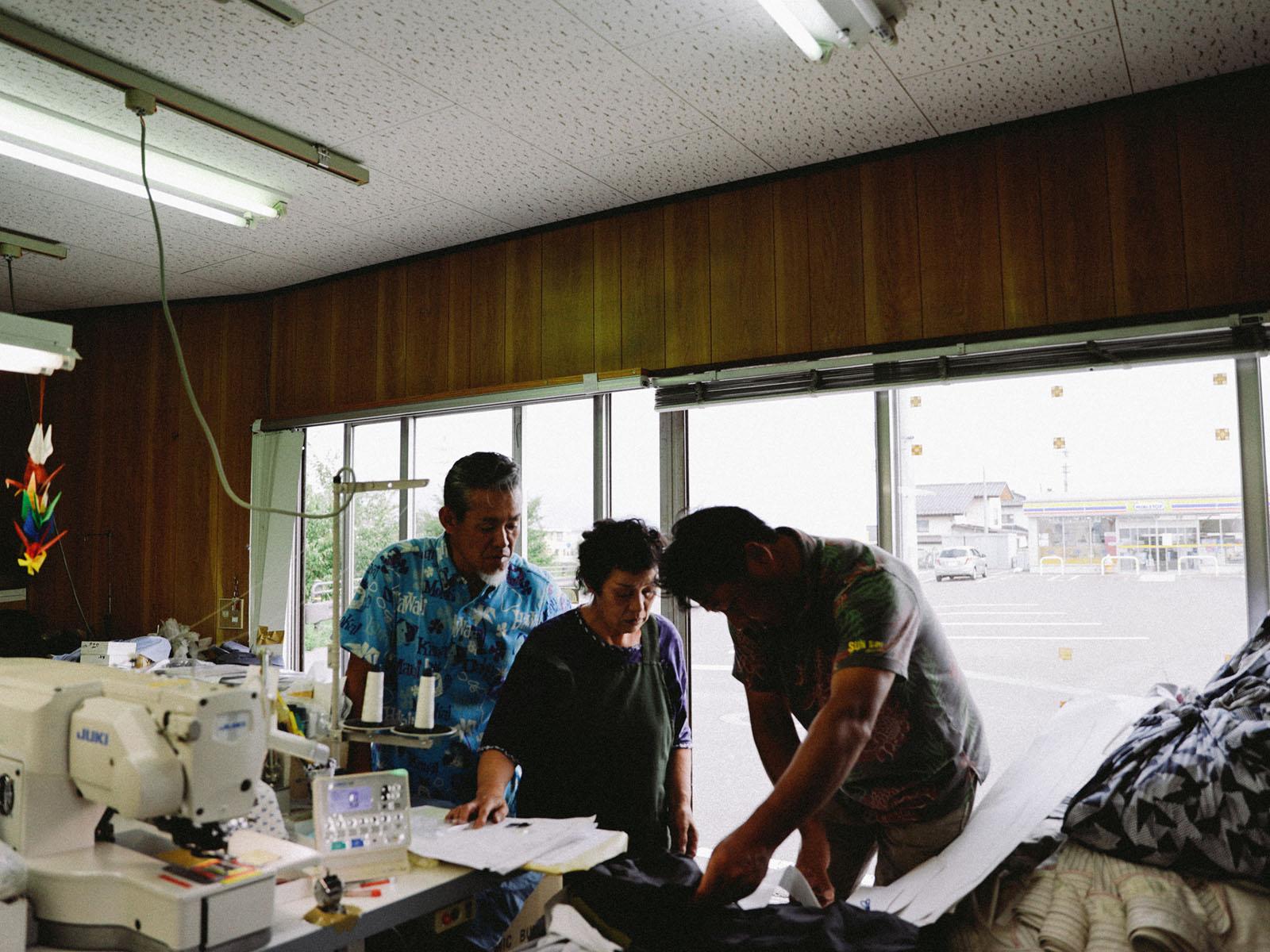 yaunnのシャツの工場