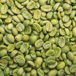 緑色のコーヒー豆。